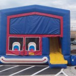 inflatable bouncehouse with slide