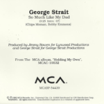 George_Strait_So_Much_Like_My_Dad_single