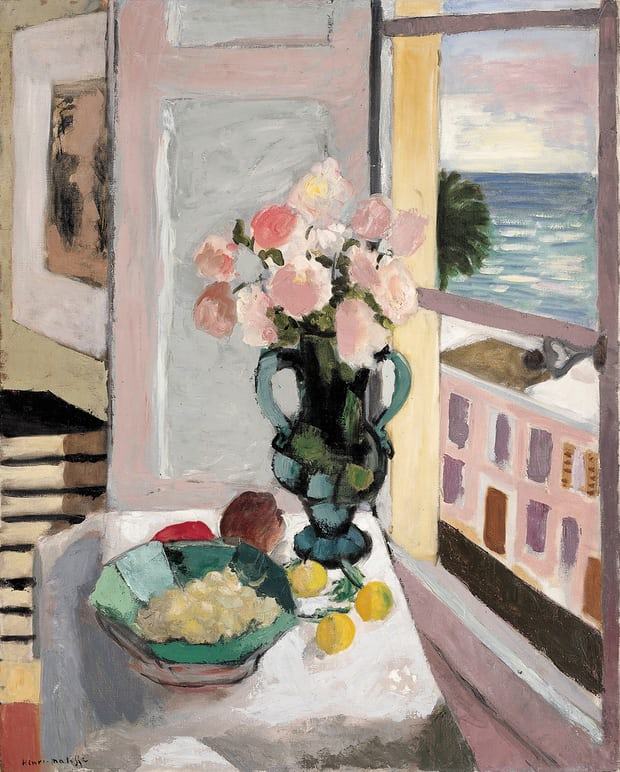 The Safrano Roses at the Window, 1925 Matisse