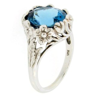 London Blue Basket Ring