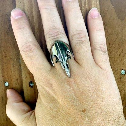 Viking Raven Stainless Steel Ring