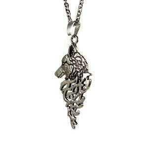 Runic Wolf Necklace