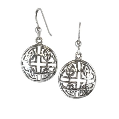 Celtic Cross Knot Sterling Earrings