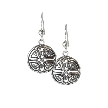 Celtic Ivy Knot Sterling Earrings