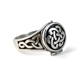 Celtic Knot Sterling Poison Ring