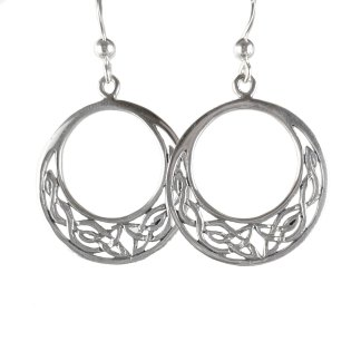 Celtic Moon Sterling Earrings