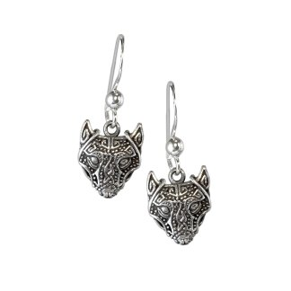 Viking Wolf Sterling Earrings