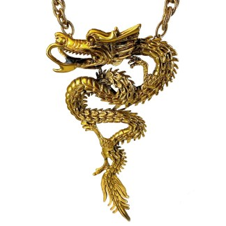 Tortolani Gold Dragon Necklace