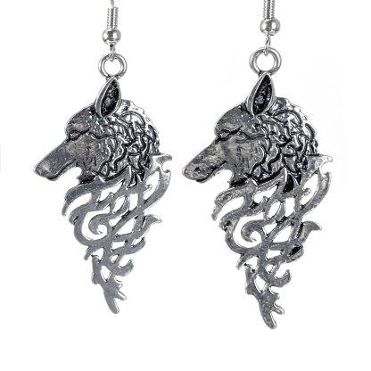 Runic Wolf Earrings