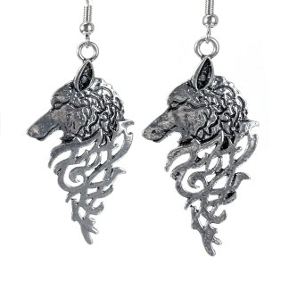 Runic Wolf Earrings