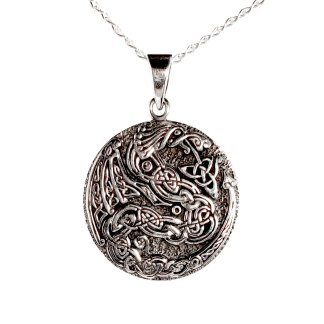 Carved Dragon Pendant