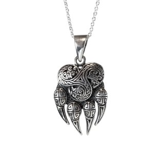 Celtic Cat Claw Sterling Pendant