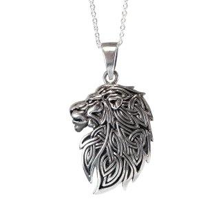 Celtic Lion Sterling Pendant