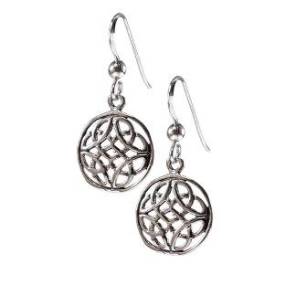 Celtic Rose Knot Sterling Earrings