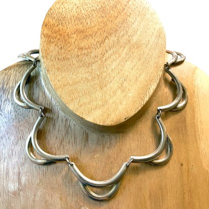 Double Arc Sterling Necklace
