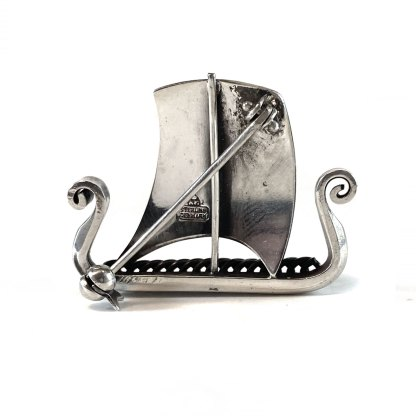 Viking Longboat Sterling Pin