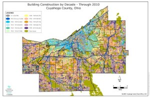 Map of Building Construction by Decade