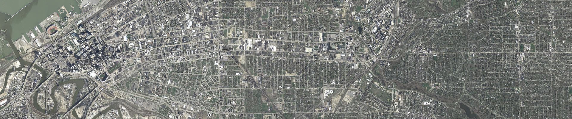 aerial photo of Cuyahoga County