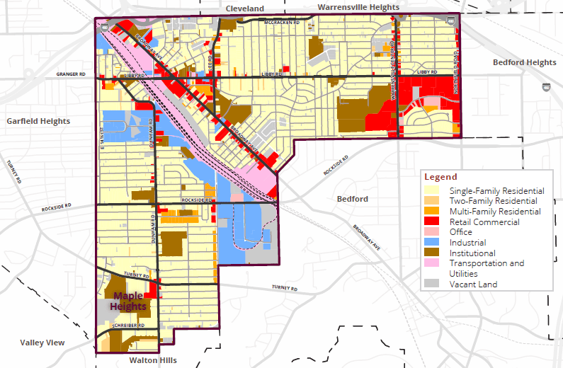 Maple Heights land use map
