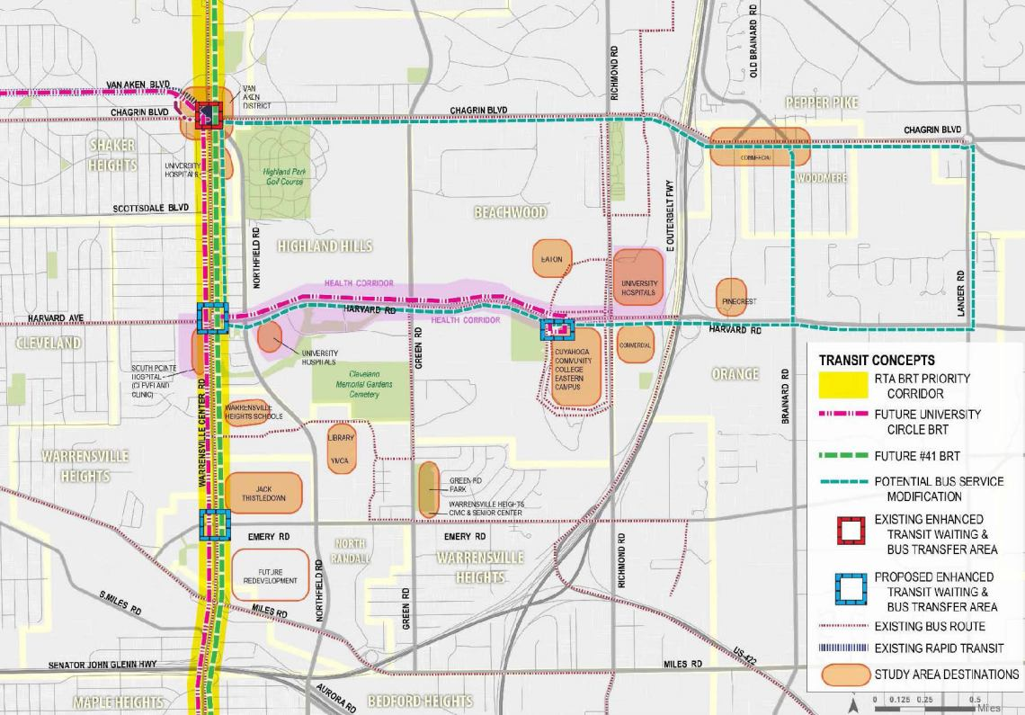 Northfield-Warrensville Multimodal Connectivity Plan: Existing & Proposed Transit Service and Amenities