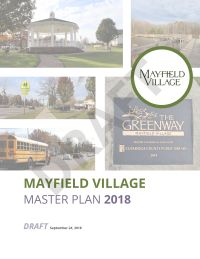 Cover of the draft Mayfield Village Master Plan