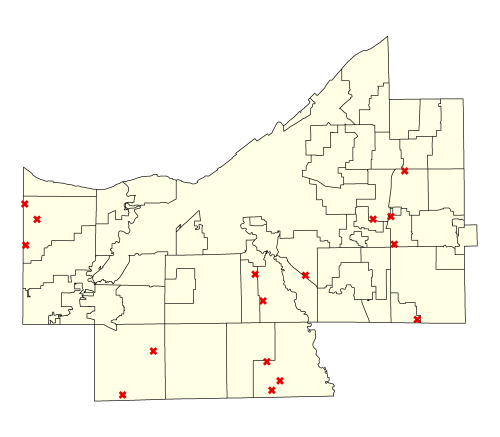 map of areas that experienced clear-cutting