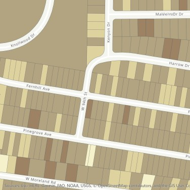 sample map: possible tree canopy