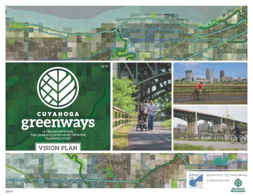 Cover of the Cuyahoga Greenways plan