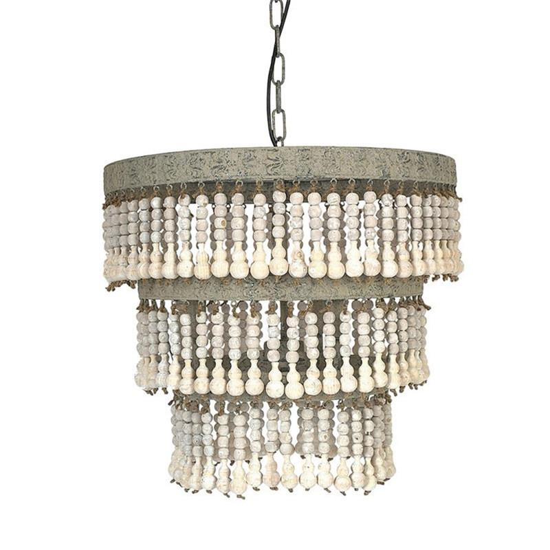 lustre perles bois boheme bloomingville sur cdc design