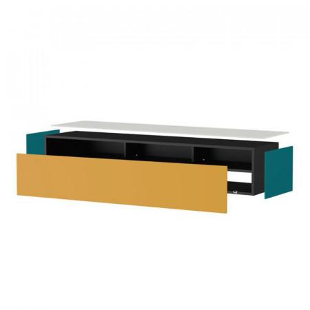 meuble tv suspendu en bois couleur noyer nature reference cd tv75b 02