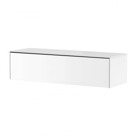 meuble tv suspendu blanc pure reference cd tv87b 02