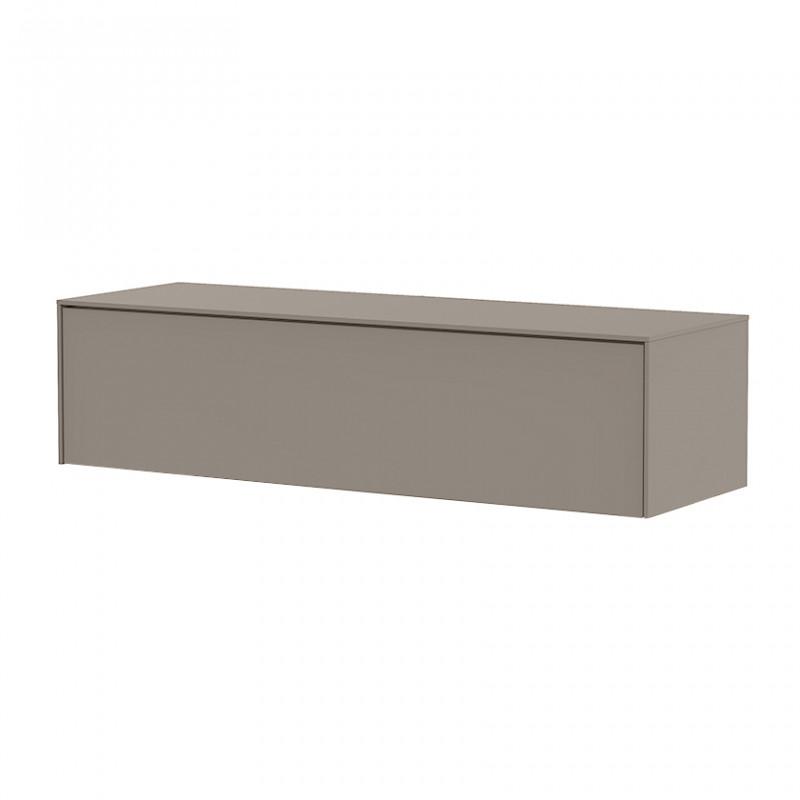 meuble tv suspendu taupe design sur cdc design