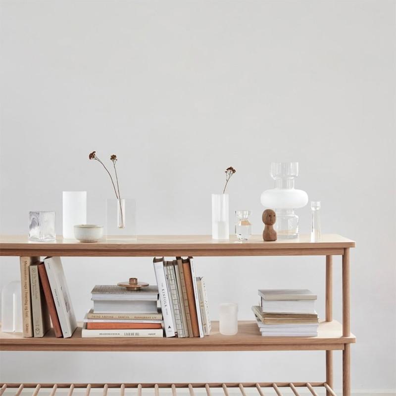 console meuble scandinave en bois 2 etageres sur cdc design