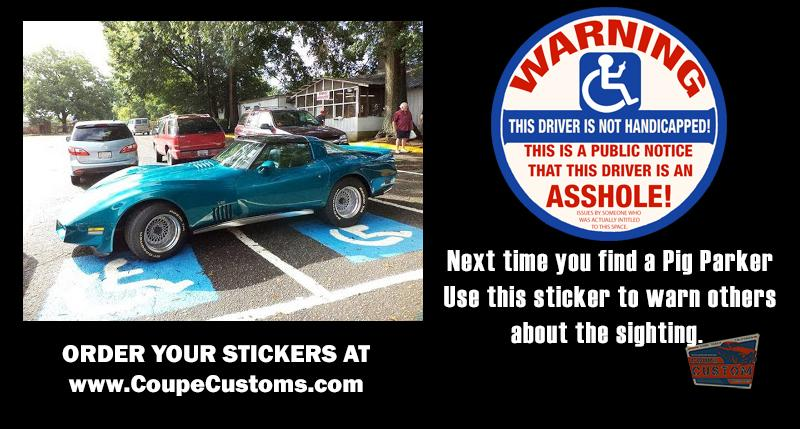 HANDICAPPED PARKING VIOLATOR STICKER