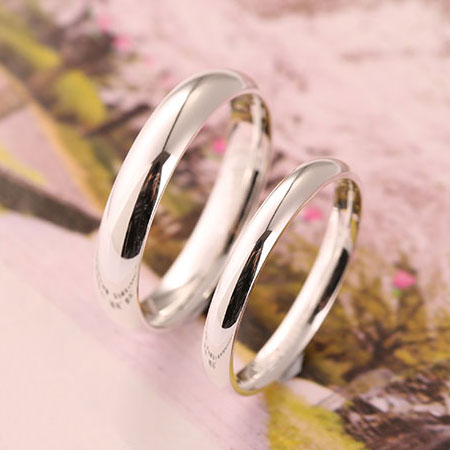 Engravable 999 Pure Silver Rings Sterling Silver Wedding