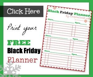 free black friday printable -planner
