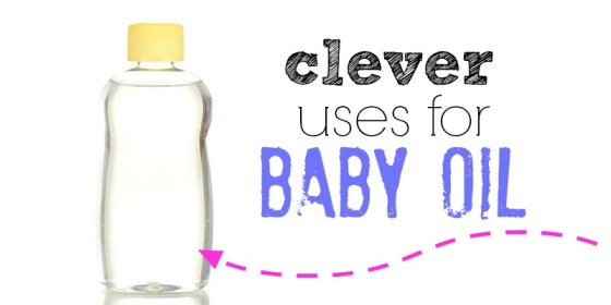 uses for baby oil - Facebook image