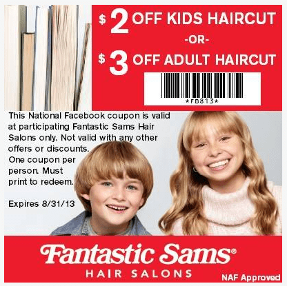 Save 2 Off Kids Haircut Or 3 Off Adult Haircut At