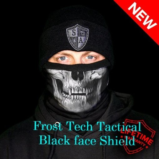 Frost Tech Tactical Black Fleece Lined face Shield