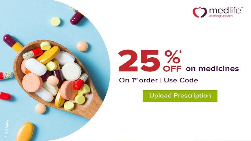 Up to 25% off on medicines