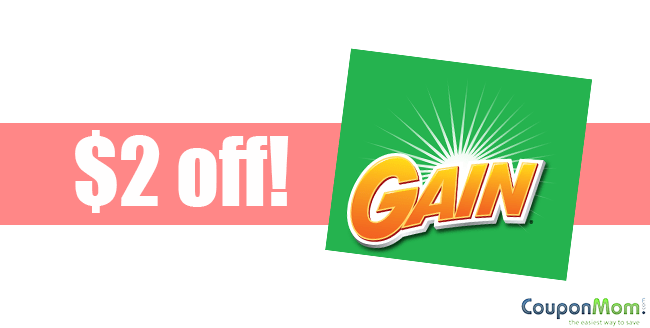 $2 off Gain Laundry Detergent