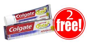 2 Free Colgate Toothpaste