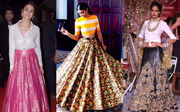 reuse your wedding lehenga: lehenga with top