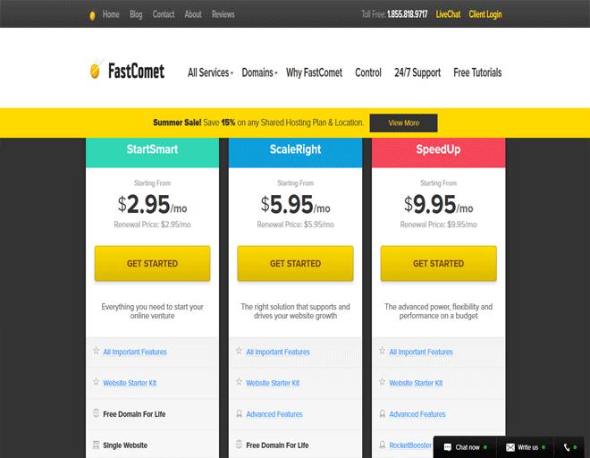 Europe top buy Fastcomet hosting Providers + buy Domain: Web Hosting Services
