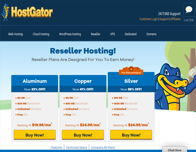 HostGator coupon, discount on Buy Reseller hosting coupon code 2018