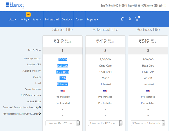 Bluehost coupon India, discount on WordPress hosting coupon code, coupon 2018