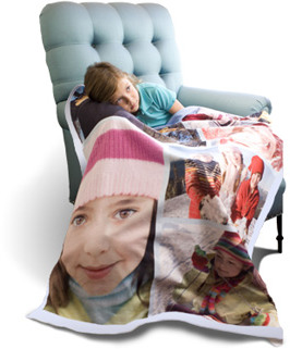 fleece collage blanket