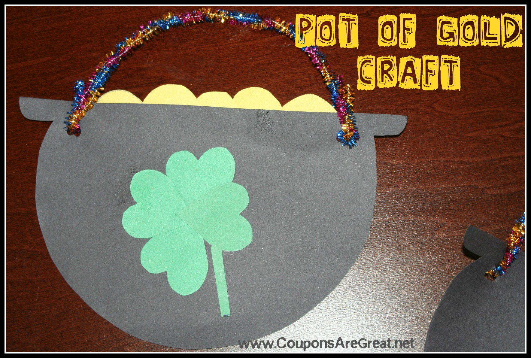 St Patrick S Day Pot Of Gold Craft