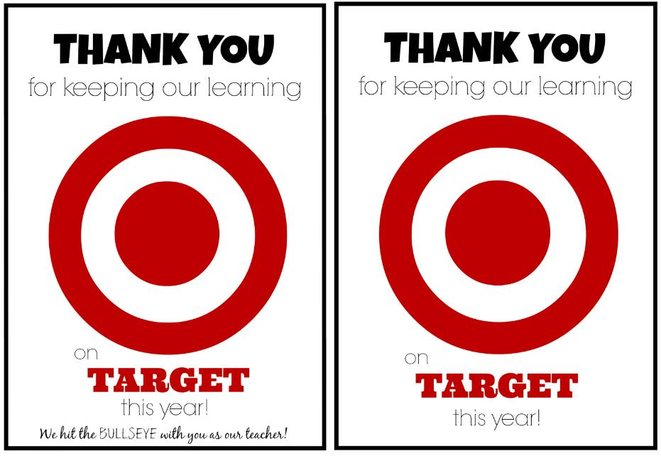 Teacher Appreciation Gift Idea Target Gift Card Teacher