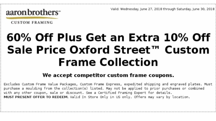 Colorful Michaels Custom Framing Coupon 60 Off Mold - Picture Frame ...